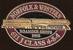 Norfolk & Western (N&W) 611 Locomotive Lapel Pin . $4.95. Norfolk & Western #611 locomotive lapel pin / hat tac - The locomotive is featured in three dimensional relief. The Virginia Museum of Transportation has announced that it is studying the feasibility of returning the iconic Norfolk & Western Class J 611 Steam locomotive to operating condition.