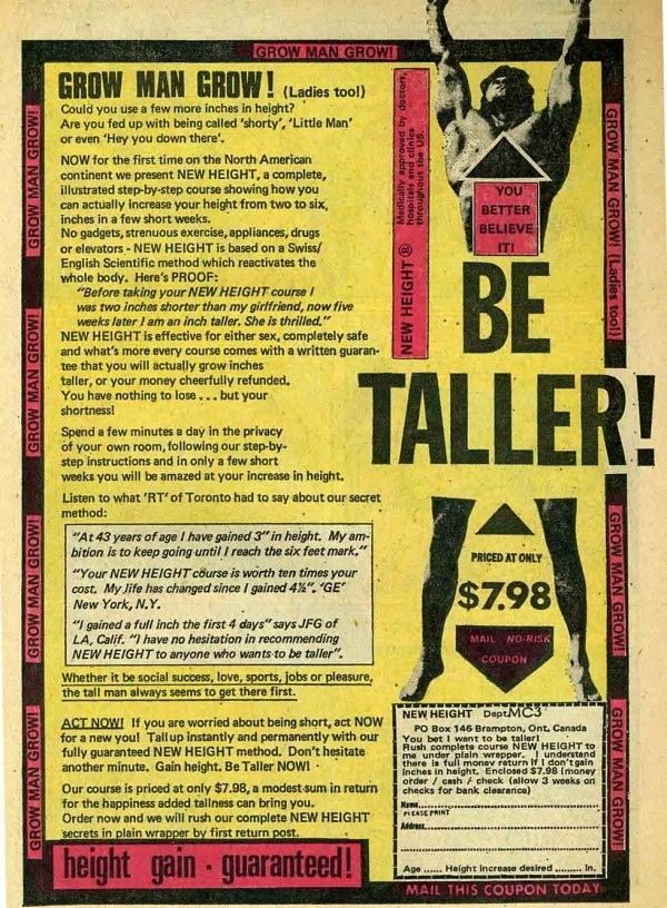 Height | 15 Enticing Vintage Comic Book Ads