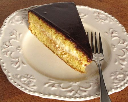 Nutella Boston Cream Pie : If you're a sucker for Boston cream pie, you'll love this simple twist; the chocolate glaze that's spread over the cake is made with Nutella instead of chocolate, giving the cake a delicious hint of hazelnut.