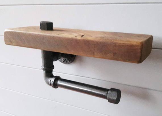 Rustikale Badezimmer Badezimmer Regal Holz Etsy Toilet Paper Holder Toilet Roll Holder Toilet Paper Holder Shelf
