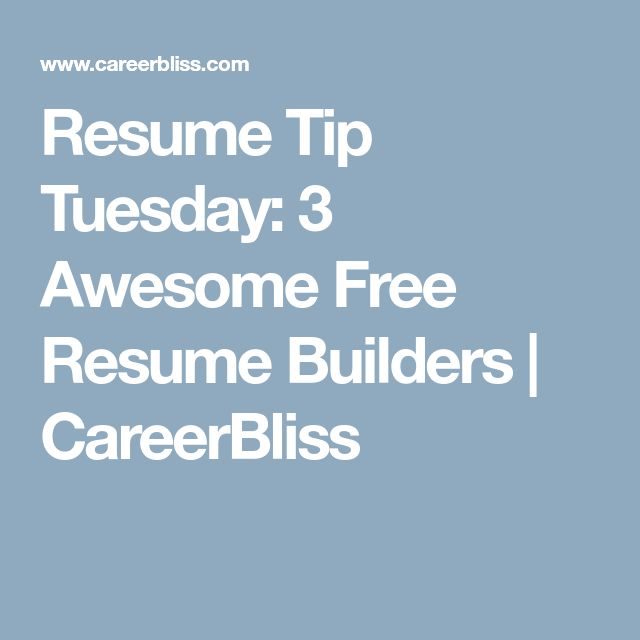 The 25+ best Free resume builder ideas on Pinterest Resume - free resumes builder