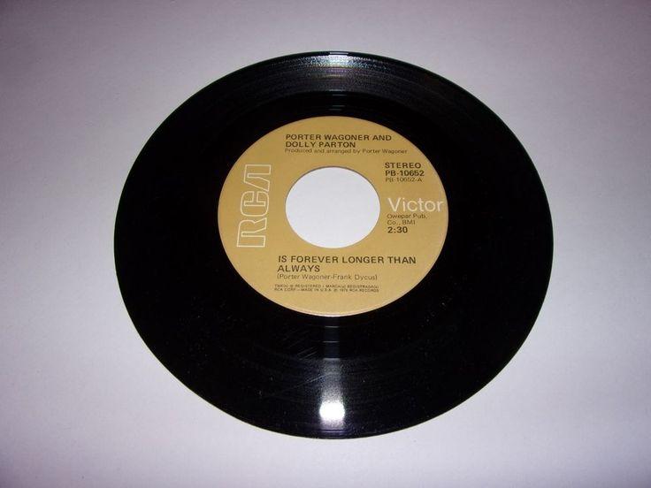 Porter Wagoner & Dolly Parton: Is Forever Longer Than Always / 45 / 1976 / VG+ #NashvilleSoundTraditionalCountry