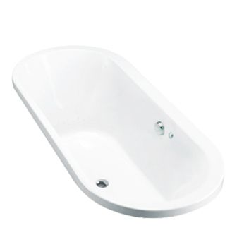 Evok Oval Drop-In BubbleMassage Bath    Features:    Drop-in acrylic bubble massage bath (fully reinforced)  Multiple air holes releasing tiny bubbles  Included Components    40mm chrome pop-up waste and overflow