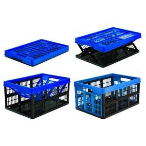 Amazon.com: CleverMade CleverCrates Collapsible Storage Bin/Container: 62 Liter Solid Wall Utility Basket/Tote, Royal Blue: Home Improvement