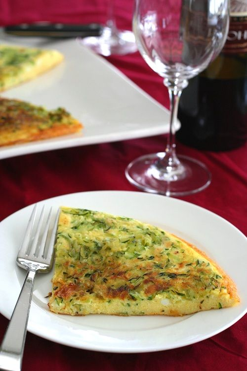 Zucchini Parmesan Frittata made with Coconut Oil #GlutenFree