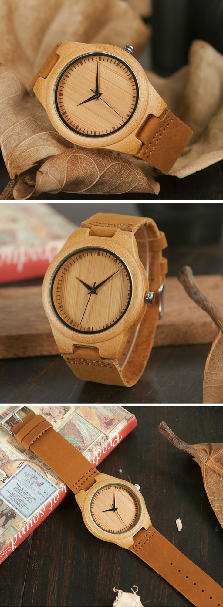 A classy men's watch made from bamboo & leather | www.arborcouture.com | men's watch leather, men's watch leather brown, men's watch leather black, men's watch leather simple, men's watch leather life, men's watch leather classy, men's watch leather casual, men's watch leather affordable, men's watch leather classic, men's watch leather fashion, men's watch leather style, men's watch leather awesome, men's watch leather products, men's watch leather accessories | #menswatches