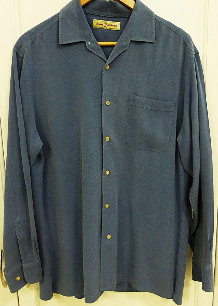Tommy bahama men long sleeve button down 100 silk shirt l for Tommy bahama long sleeve dress shirts