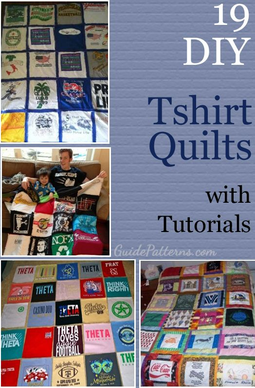 19 DIY T-Shirt Quilt Tutorials