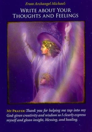 Archangel Michael guides you to write down everything you're thinking and feeling – without editing or censoring your words... (click image to keep reading)