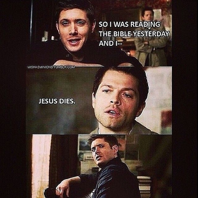Jensen Ackles Jared Padalecki Misha Collins SPN | Jesus ...