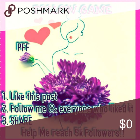 💗The power of sharing is amazing! Thank u💗 Lets all gain more followers by playing the Follow game!Follow me, like this listing, share this listing, and follow all who have liked this listing! Thank you all so much for the likes and the shares please keep it running for me, next goal Is 10,000, I appreciate every one of you!❤️ Other