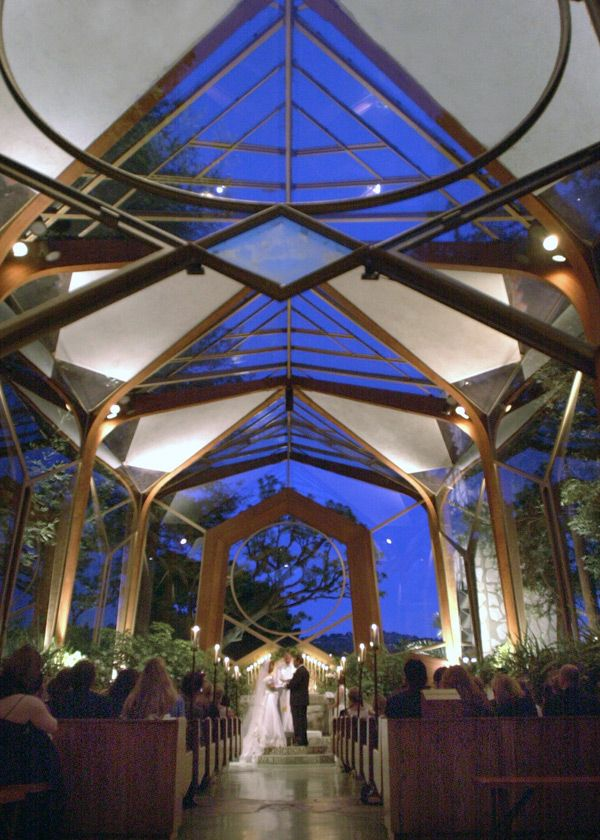 Beautiful Wedding Chapel Los Angeles California, Glass Church Wedding Chapel, Candle | Wayfarers Chapel