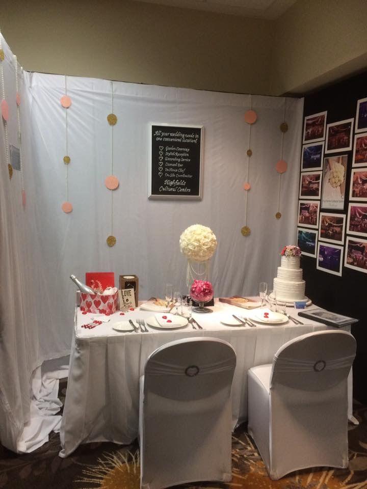 Highfields Cultural Centre, wedding expo set up.