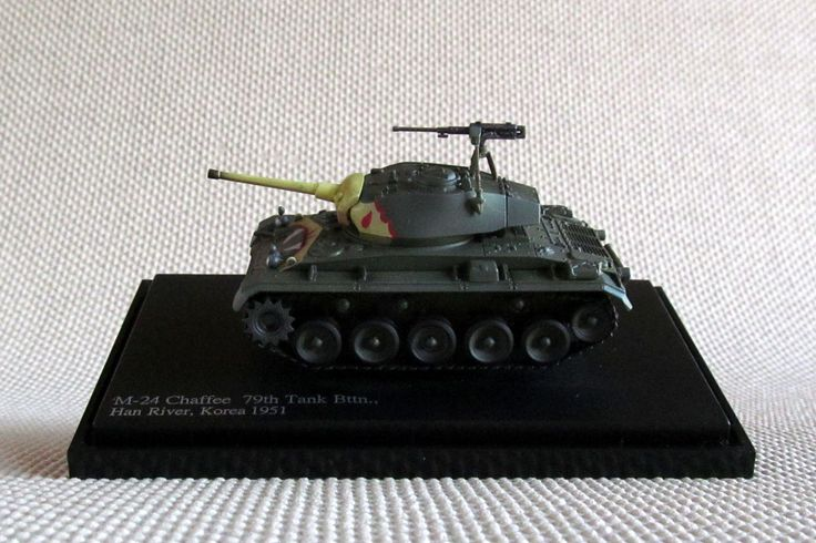 Hobby Master HG3602 M-24 Chaffee Tank  79th Tank Battallion, Han River, Korea 1951. 1:72 scale die-cast with plastic parts.  Visit http://thegeniescave.co.uk/product-category/diecast/hobby-master/