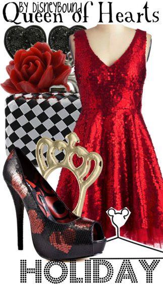 Queen of Hearts/Alice in Wonderland  DISNEYBOUND!