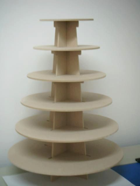 6 tier Cupcake stand, made of wood (mdf) perfect for parties or house, good capacity. easy handling on Etsy, $39.00