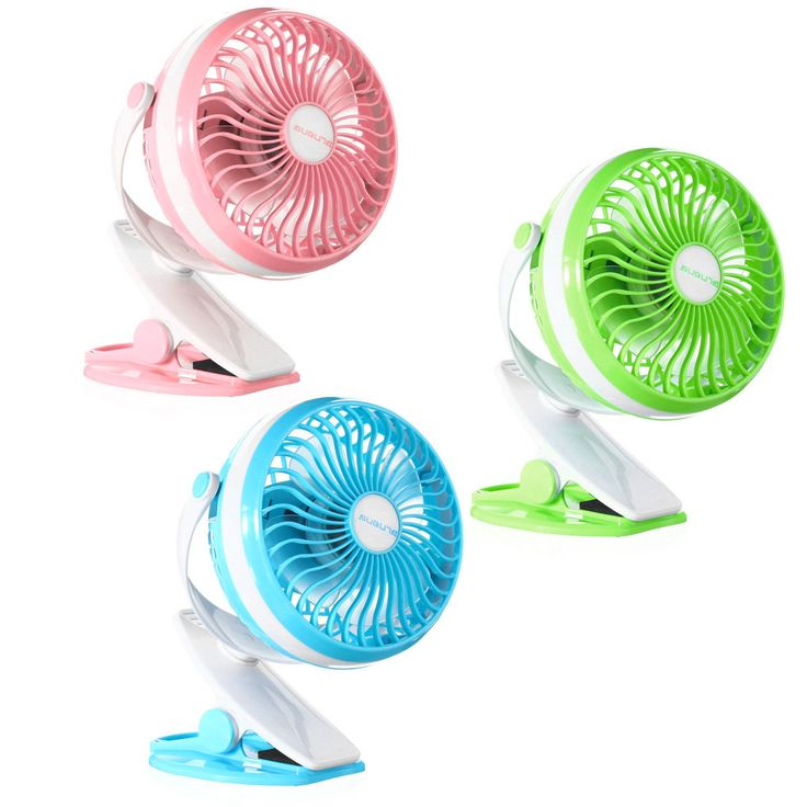 360º Clip On Portable Mini USB Baby Carriage Camping Outdoor Desktop Office Fan…