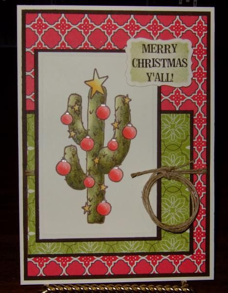 93 best texas christmas cards images on pinterest christmas cards texas cactus christmas by dctalktexas cards and paper crafts at splitcoaststampers m4hsunfo