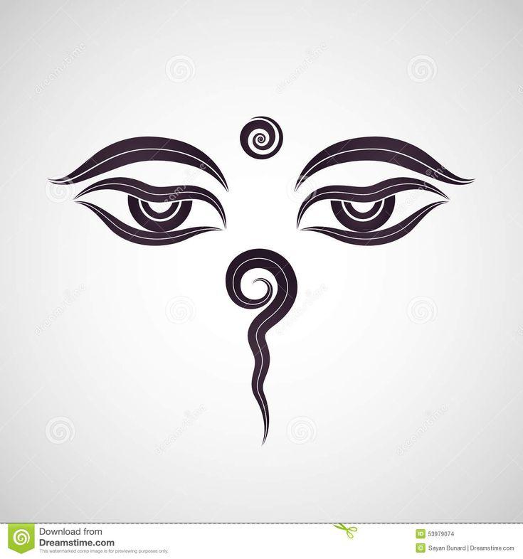 Buddha Eyes, Nepal Stock Vector - Image: 53979074