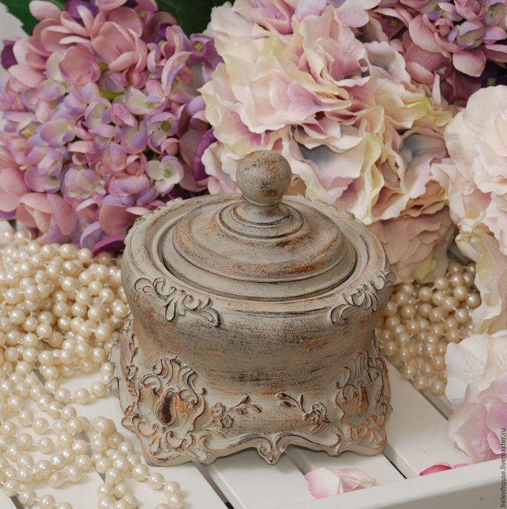 "Купить Шкатулка ""Винтаж"" - бирюзовый, прованс, стиль, интерьер, Декор, подарок, винтаж, для дома, шкатулка"