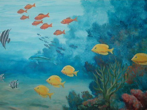 25 best ideas about sea murals on pinterest ocean mural for Underwater mural ideas