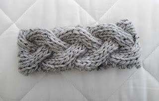 braided cable ear warmer...free pattern. Could make it with my grey acrylic or teal wool?