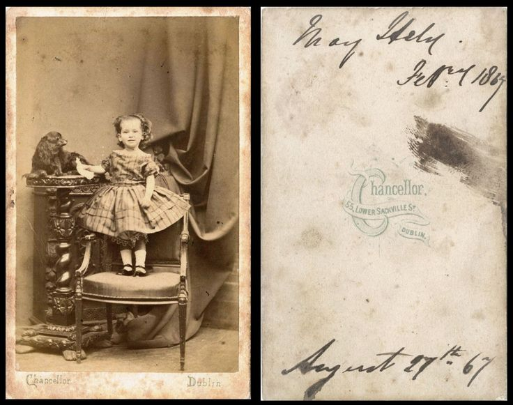 Studio CdV - Chancellor, 55 Lower Sackville Street, Dublin (little girl with dog)