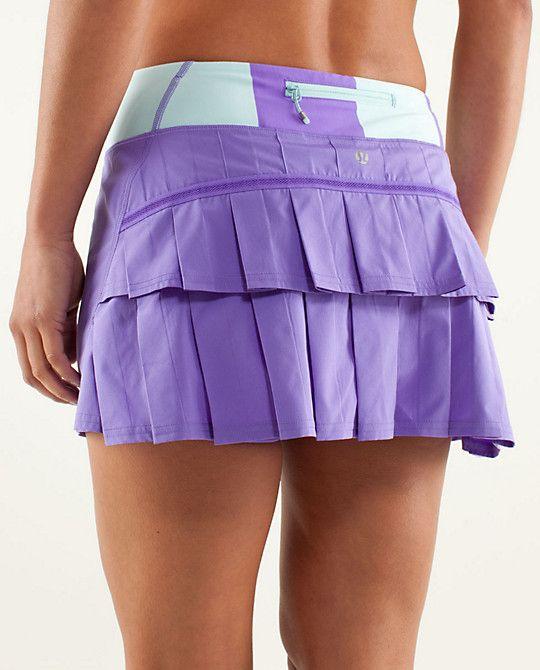 lululemon Run: Pace-Setter Skirt   power purple/bold stripe