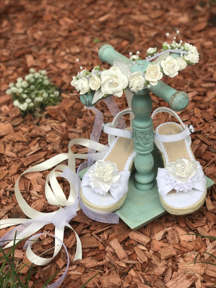 Flower girl wreath & matching shoes
