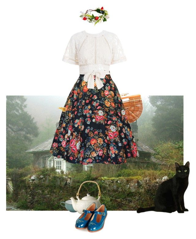 """""""Cottage"""" by eleano ❤ liked on Polyvore featuring Denby, Zimmermann, Bloomingville, Topshop, Rock 'N Rose, Delfina Delettrez, LeiVanKash, Flowers, Bohemian and floralprints"""