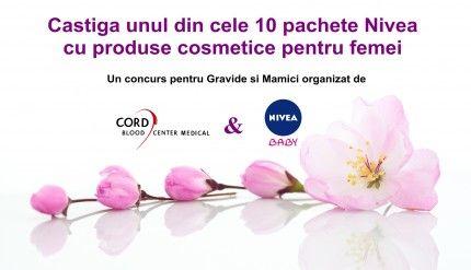 Concurs pentru Mamici si Gravide: castiga un pachet de cosmetice pentru femei marca Nivea