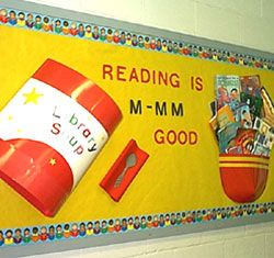 "Might do this in the fall way outside my room then add students ""thumbs up"" - recommendations for good books"