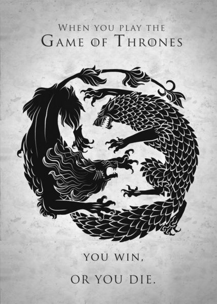 This is one of the coolest ways I've seen The Stark and Lannister sigils drawn.