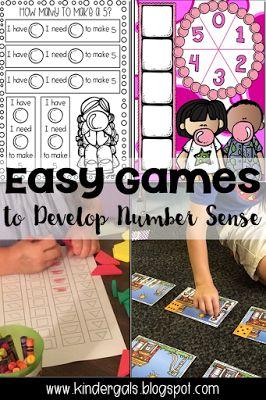 Easy math games to teach number sense.