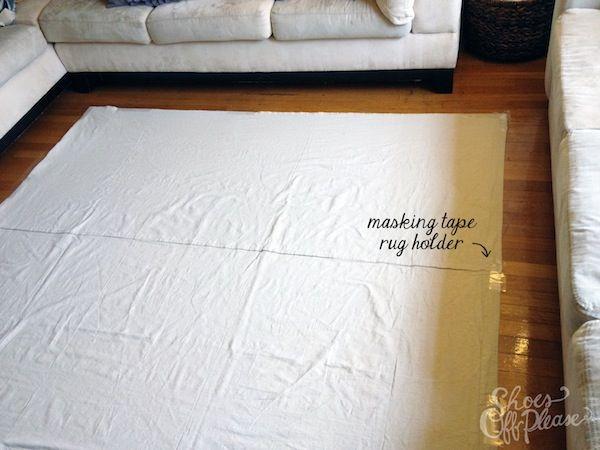 DIY Drop Cloth Rug {Phase 1}