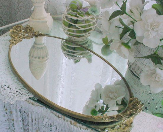 Vanity Tray Barbola Vintage French Country Romantic Shabby Chic by EstateSaleTreasure on Etsy
