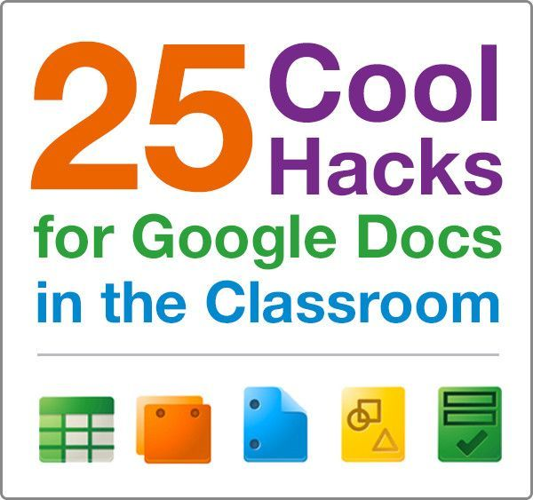 25 ways Google docs can make tasks in the classroom easier and more fun.