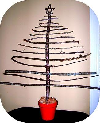 Stick tree! So easy!: Trees Cards, Sticks Trees, Christmas Crafts, Christmas Trees, Easiest Christmas