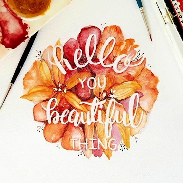TシャツフォントWatercolor_Lettering_by_June_Digan_2014_10