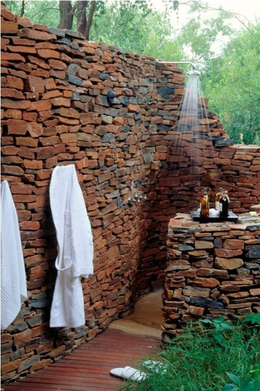 Check out the COOLIO Shower wall. LOVE this. @Makanyane Safari Lodge Safari Lodge is a luxurious lodge situated on 1800 hectares of private ground, hidden in the magnificent 75 000 hectare malaria-free Madikwe Game Reserve.