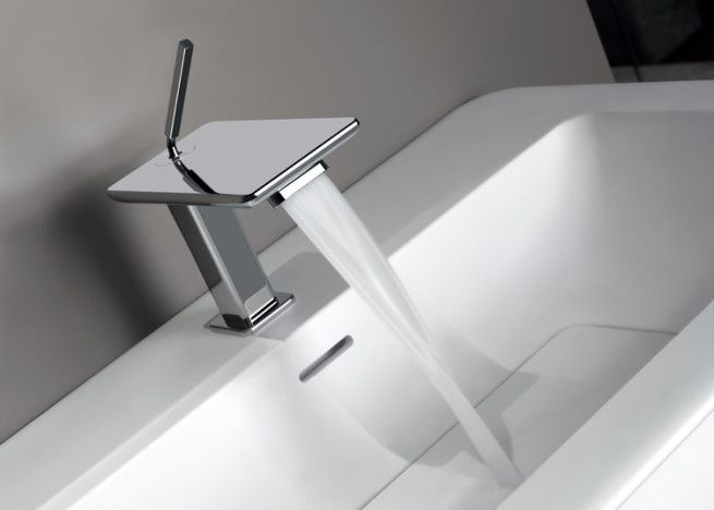 Best Gessi Showroom In Milan Images On Pinterest Showroom - Contemporary waterfall faucets riflessi from gessi