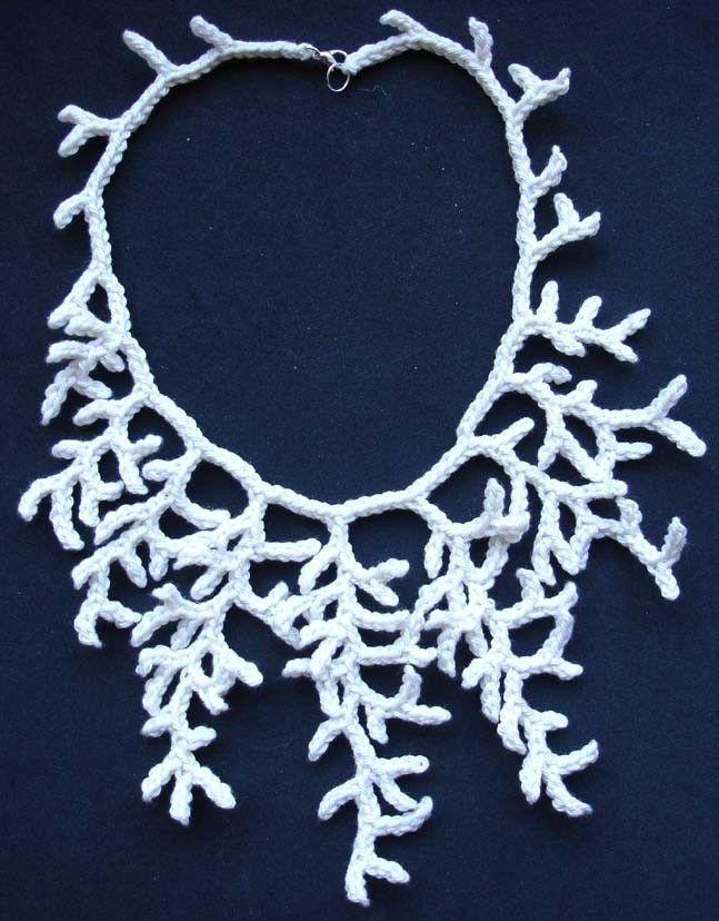 Ildiko knitting crochet textile art - Freeform