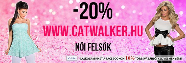 -20-50% akció! Catwalker női ruha webáruház. Vásárolj internetről online ruhaboltunkban! Redial, ruha rendelés, divatos női ruhák olcsón XS-XXL-ig a Catwalker ruha webshopban!