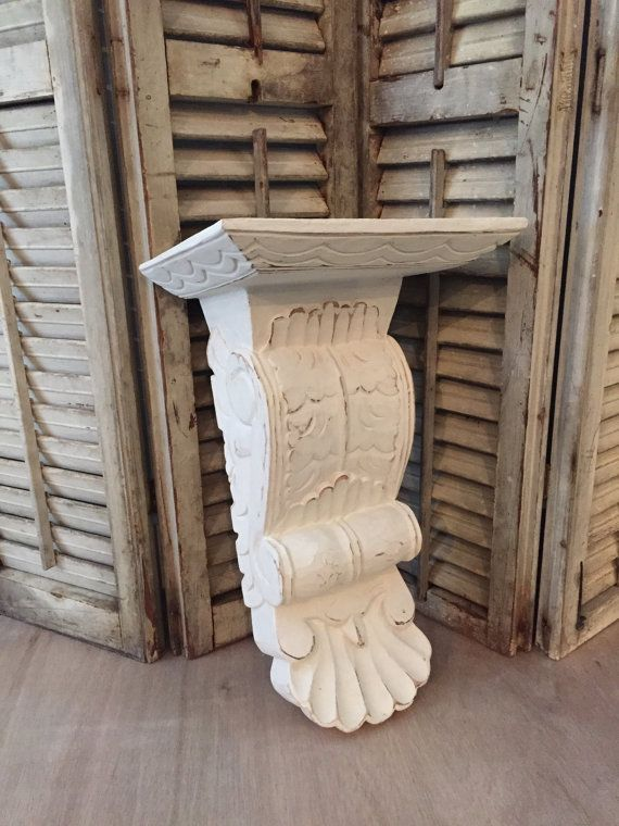FRENCH PROVINCIAL Antique Wood Corbel Acanthus By FarmHouseFare