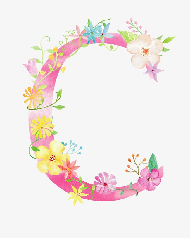 Flowers Letter C Letter C Flower Png Transparent Clipart Image And Psd File For Free Download Floral Letters Flower Letters Watercolor Lettering C letter wallpaper hd
