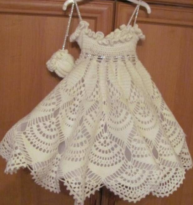 Snow dress for little girls ~ with diagram
