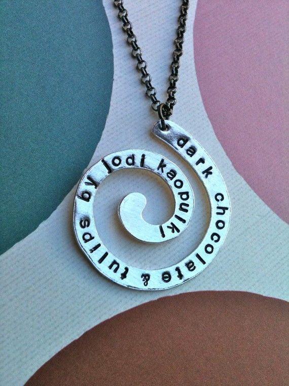 https://www.facebook.com/pages/Dark-Chocolate-and-Tulips-customized-hand-stamped-metalz/164360623589828?ref=tn_tnmnLIMITED EDITIONSwirl Around NecklaceHand by DarkChocolateNTulips, $28.00Limited Editionswirl, Stamps Swirls, Swirls Necklaces, Dark Chocolates, Necklaces Hands Stamps, Salelimit Editionswirl, Necklacehand Stamps, Editing Swirls, Necklace Hands Stamps