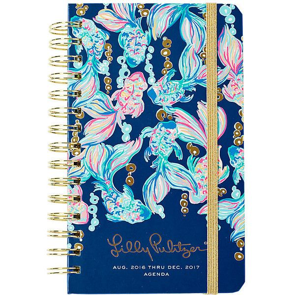 Lilly Pulitzer Lilly Pulitzer 2016-2017 Medium Agenda - Going Coastal ($24) ❤ liked on Polyvore featuring true blue going coastal