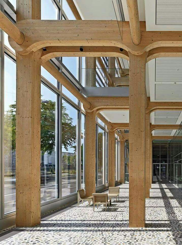 Shigeru Ban Tamedia Office Building Zurich Wood