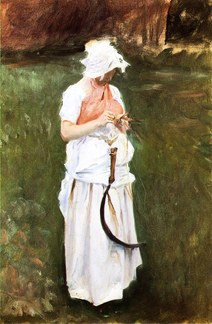 """John Singer Sargent - """"Girl with a Sickle"""""""